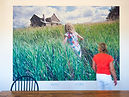 photo mural, Wescott Winery, Jordan, Ontario, Canada