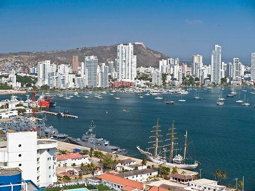 aerial view of Bay of Cartagena, Cartagena, Colombia.jpg