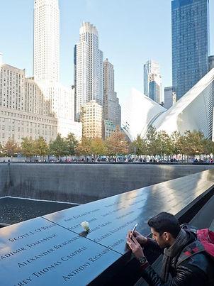 White carnation, 9/11 Memorial, NY NY