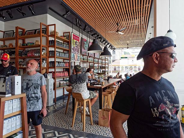Juan Valdez coffee shop interior, Bocagrande, Cartagena, Colombia.jpg