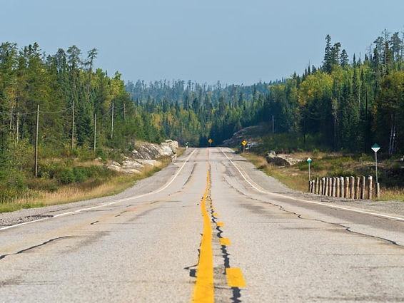 Trans-Canada Highway around lake Superior