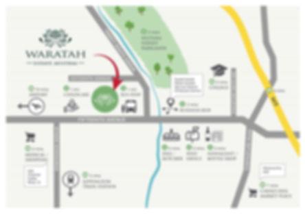 waratah estate austral location map transport shopping parklands
