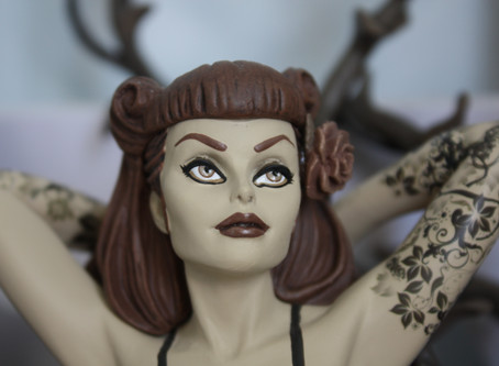 Poison Ivy Sepia DC Bombshell Statue Review!