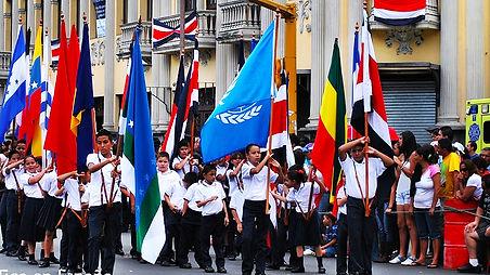 Banderas para desfiles costa rica