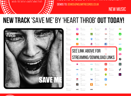 NEW track 'save me' by 'heart throb' out today!