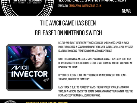 THE AVICII GAME HAS BEEN RELEASED ON NINTENDO SWITCH