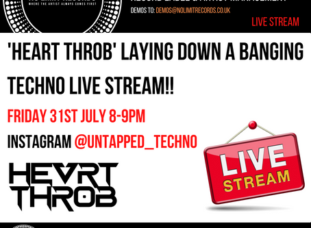 'Heart Throb' laying down a banging techno live stream!!