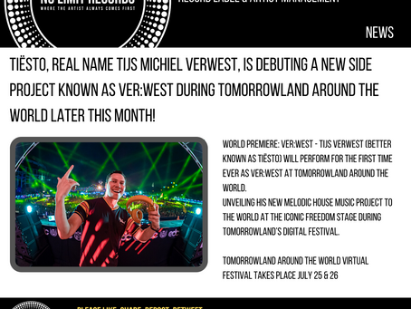 Tiësto is debuting a new side project duringTomorrowland Around the Worldlater this month!