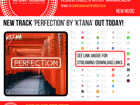 NEW track 'perfection' by 'ktana' out today!