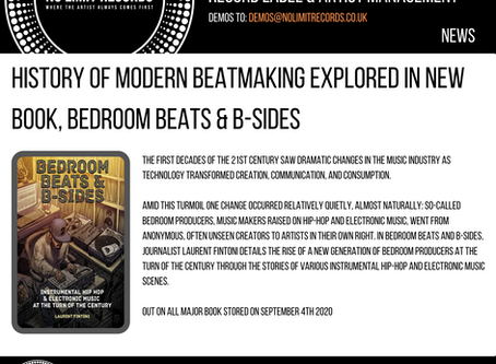 HISTORY OF MODERN BEATMAKING EXPLORED IN NEW BOOK, BEDROOM BEATS & B-SIDES