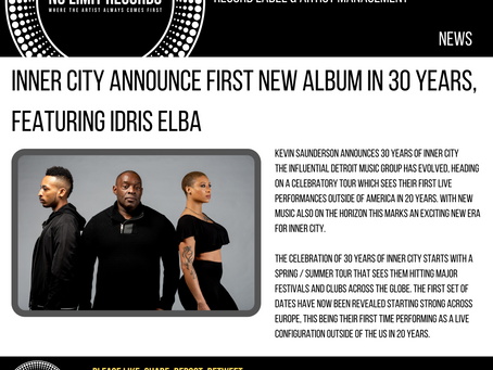 INNER CITY ANNOUNCE FIRST NEW ALBUM IN 30 YEARS, FEATURING IDRIS ELBA