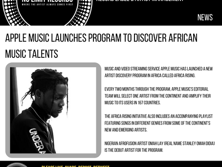 Apple Music launches program to discover African music talents