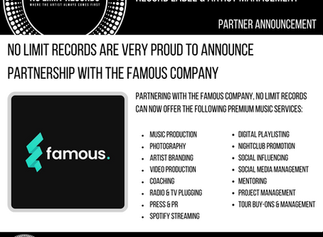 No Limit Records are Very proud to announce partnership with the famous company