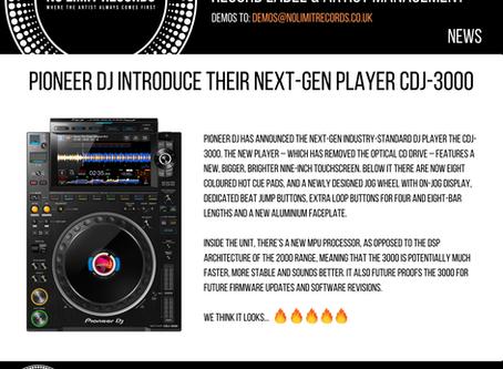 PIONEER DJ INTRODUCE THEIR NEXT-GEN PLAYER CDJ-3000