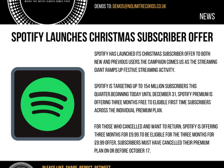 Spotify launches Christmas subscriber offer