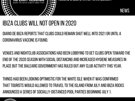 Ibiza clubs will not open in 2020