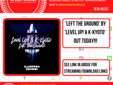 'Left the Ground' by 'level up! & K-Kyoto' OUT TODAY!!!See link below for streaming/download links