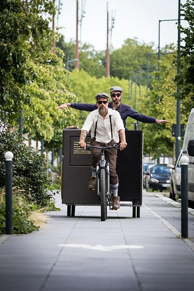 Cyclogistic Rennes CycloBlaster Chars-vélo Déambulation vélo
