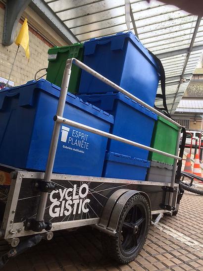 Cyclogistic/Rennes/35/Logistique vélo/Dernier km/Festival