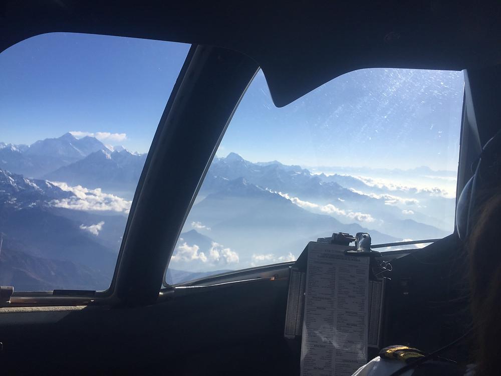 Everest scenic flight, cockpit