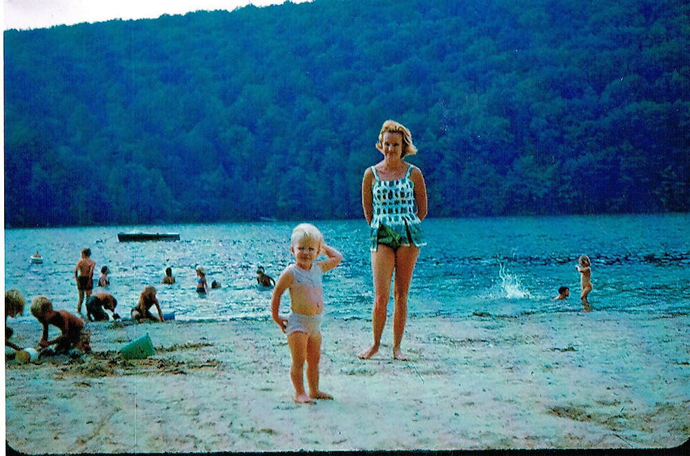 Mom and me, Candlewood Lake, 1964