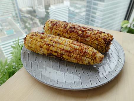 用氣炸鍋做台灣夜市烤玉米