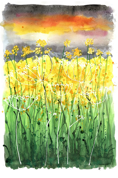 """""""Rapeseed field"""" Open edition print"""
