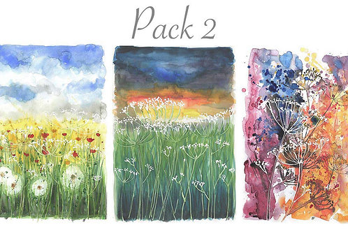 Pack of six cards