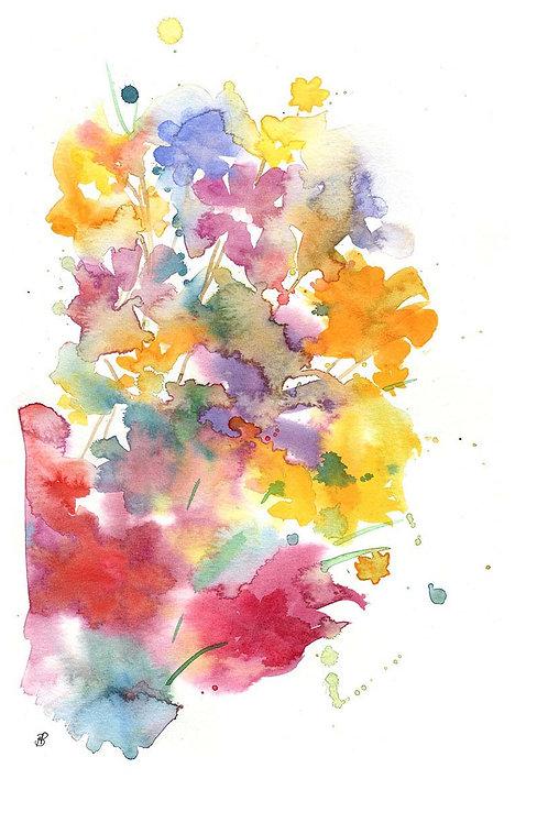 """Floral burst"" Open edition print"
