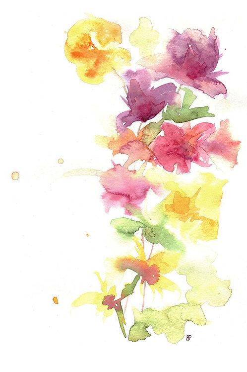 """Floral burst II"" Open edition print"