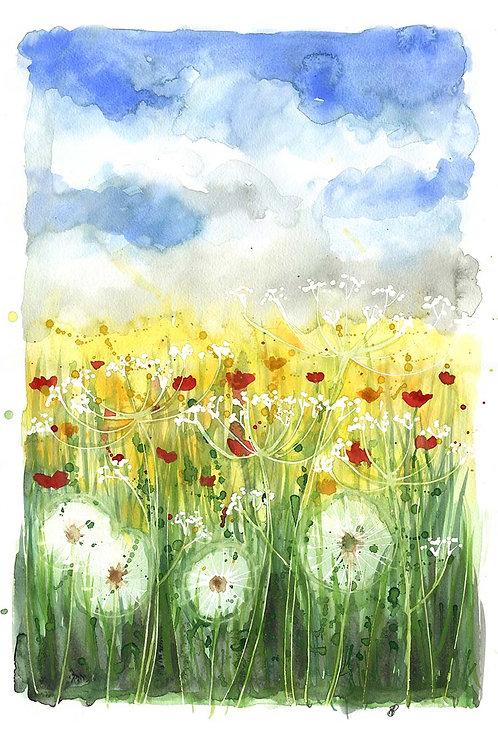 """Dandelions"" Open edition print"