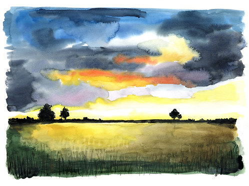 """Sunset"" Open edition print"