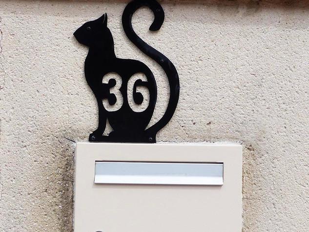 Déco en métal accueil extérieur maison BOÎTE AUX LETTRES CHAT