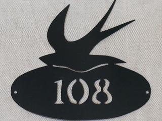 Plaque personnalisée numéro de maison HITONDELLE