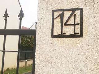 Plaque personnalisée numéro de maison CADRE