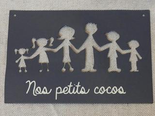 Décoration murale personnalisée en métal famille coco