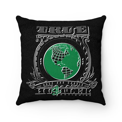 Worldwide Suede Quote Pillow