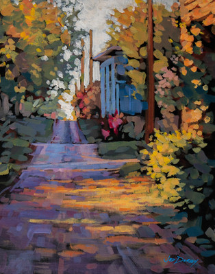 Jed Dorsey - The Brick Alley (Indianapolis, IN) - 12x16 - SOLD