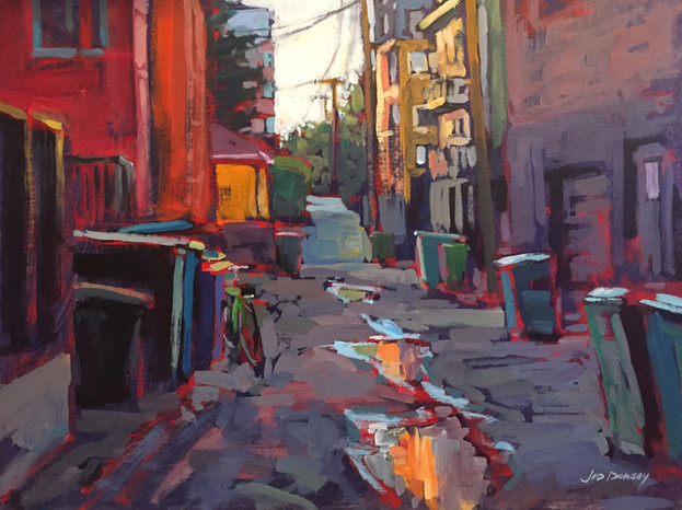 Jed Dorsey - Sidetracked (Capitol Hill - Seattle, WA) - 18x24 - SOLD