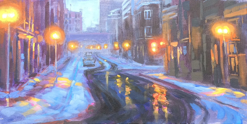 Jed Dorsey - Before Dawn (Old Quebec) - 10x20 - SOLD