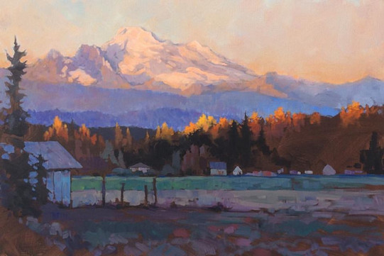 Jed Dorsey - Late October Light (Skagit Valley, WA) - 24x36 - SOLD