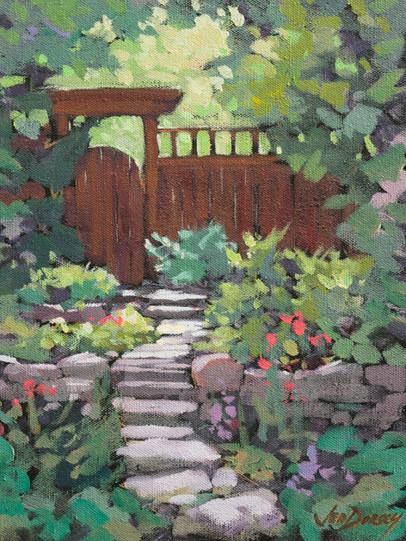 Jed Dorsey - The Secret Garden - 12x9 - SOLD