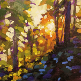 Giveaway Painting 1 - Sunlit Trees - 6x6