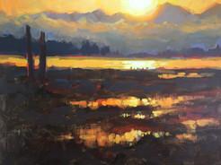 Jed Dorsey - Unforgettable Morning (Camano Island, WA) - 12x16 - SOLD