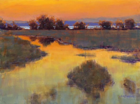 Jed Dorsey - When The Sun Paints The Sky (Camano Island, WA) - 24x36 - SOLD
