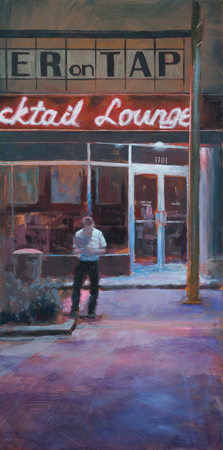Jed Dorsey - Waiting On A Friend (Indianapolis, IN) - 40x20 - SOLD