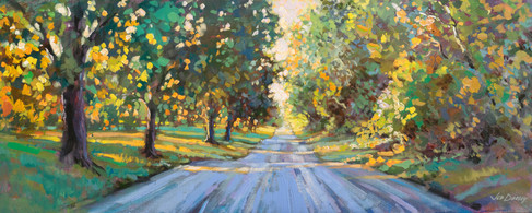 Jed Dorsey - Take Me Home, Country Road - 16x40 - SOLD