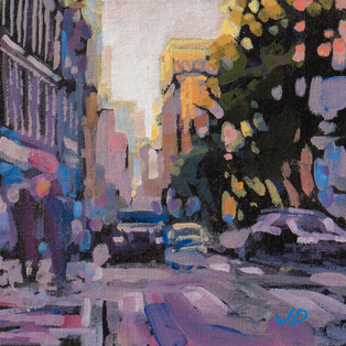 Jed Dorsey - Sunlight In The City - 8x8 - SOLD