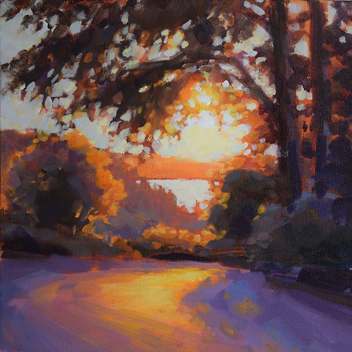 """Day 4, Painting 4 - """"Evening"""""""