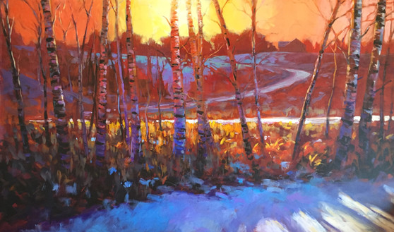 Jed Dorsey - Warm Winter Colors - 60x30 - SOLD